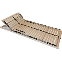 Tauro 22921 Rete con 28 doghe in legno, per letto a 7 zone, testiera regolabile, cintura centrale, 140 x 200 cm