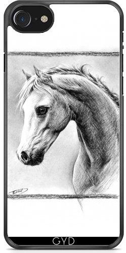 Leder Flip Case Tasche Hülle für Apple iPhone 6/6S - Pferd I by eDrawings38 Plastique Rigide
