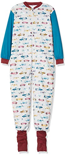Calida Baby-Jungen Toddlers Cars Einteiliger Schlafanzug, Mehrfarbig (Faience Blue 507), 104/110
