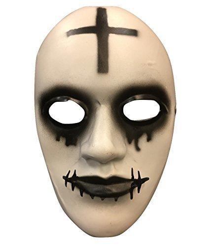 The Purge Anarchie Film Halloween Maske 'Cross' Deluxe Glasfaser mit verstellbar (Maske Purge)
