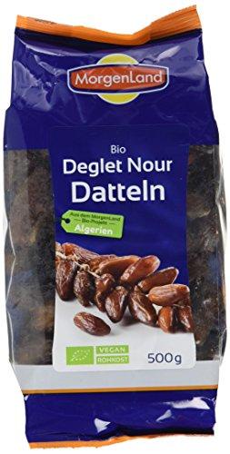 Morgenland Datteln ohne Stein - Deglet Nour - 500g Bio Trockenfrüchte, 1er Pack (1 x 500 g)