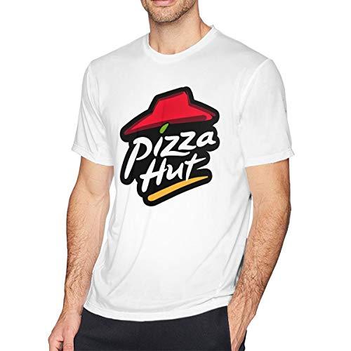 Herren Sommer T-Shirt Pizza Hut Logo T-Shirt Freizeithemden Für Herren Große Jungen Kurzarm Rundhals Baumwolle Sport Tops Weiß XXL - Jesus Youth Sweatshirt