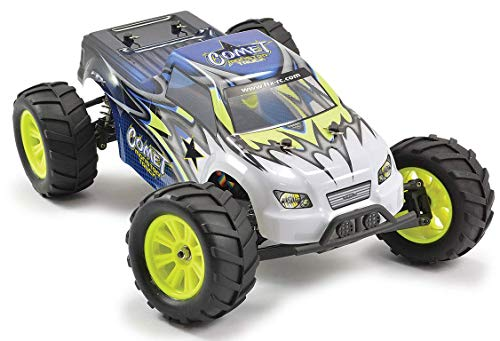 ftx FTX5517 Comet 1/12 Spazzolato Monster Truck RC Buggy, Blu/Giallo/Bianco