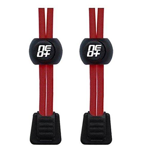Elastische Schnürsenkel mit Stopper für Laufen und Triathlons rot - rot