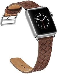 Correa Apple Watch 38mm,X-cool Marrón Cuero de Calidad superior Reemplazo Banda para Apple Watch