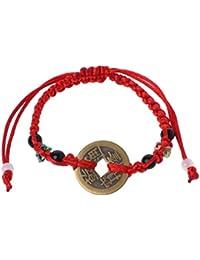 37c1ba57ad69 VIccoo auténtica Moneda China Kabbalah Pulseras de Hilo Rojo Lucky Wealth  Amuleto joyería
