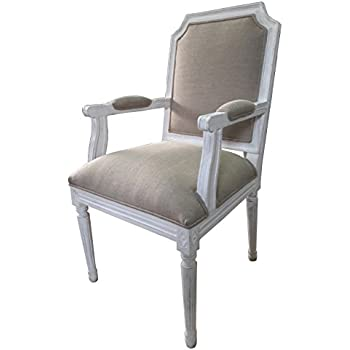 Amazing Louis Style Square Back Armchair For Living Room, Dining Room Or Bedroom    White Distressed Finish. FULL RANGE OF MATCHING FURNITURE IS AVAILABLE FOR  ...
