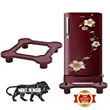 Sharabani Plastic Fridge Stands for Single and Double Door Refrigerators for 150-292 Ltrs (Maroon Colour)
