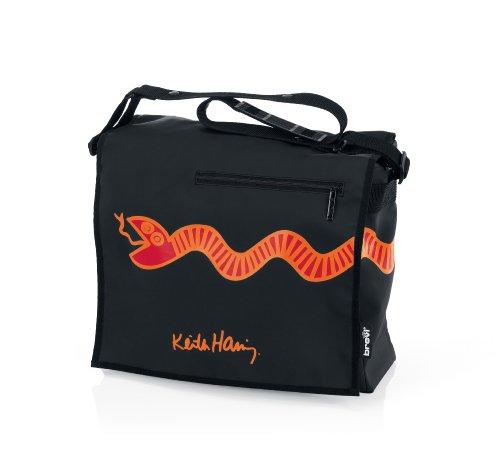 Brevi 026KH Keith Haring 258 Borsa Fasciatoio, Black