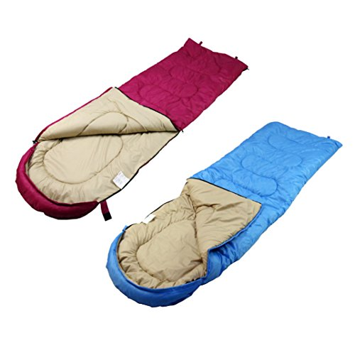 Unibest Deckenschlafsack mit Kopfteil NS50 2er Pack koppelbar - blau links+pink rechts -