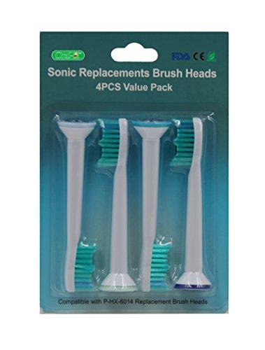 12PCS (3Packungen) Ersatz-Zahnbürstenköpfe für Philips Sonicare ProResults Zahnbürste elektrische Zahnbürste (hx-6014). Voll kompatibel mit folgende Modelle: Philips DiamondClean/FlexCare/FlexCare.