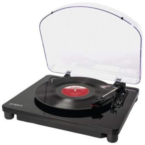 ION Audio Air LP - Bluetooth-Vinyl-Plattenspieler mit drei Geschwindigkeitsstufen und USB-Konvertierung in edlem schwarzen Klavierlack