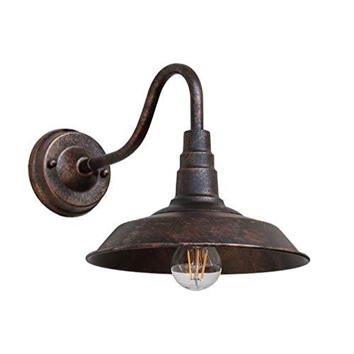 Zeitgenössische Oval Glas (Antik Wandleuchte Vintage Industrie IP44 Wasserdicht Wandlampe Rustikal Metall Rund Lampenschirm Design Retro Landhaus Stil E27 Glühbirne für Wohnzimmer Schlafzimmer Badezimmer Küche Flur Lampe Deko)