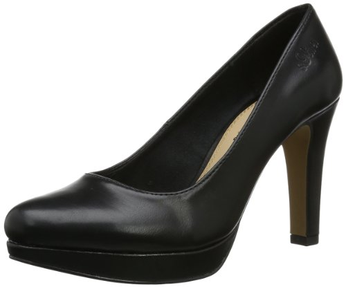 s.Oliver Casual 5-5-22400-32 Damen Pumps, Schwarz (Black Nappa 22), EU 38