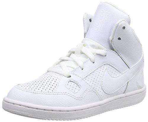 Nike Jungen Son of Force Mid (Ps) Basketball Turnschuhe, Blanc (Blanc / Blanc-Blanc), 35 EU