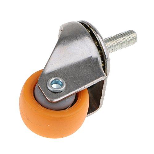 Homyl 1 Stk. Schwenkrolle Möbelrolle Caster Räder Rollen Radnachlauf für Haus Business Möbel und Elektrogeräte -stabil und langlebig - Als Bild - 1 Zoll