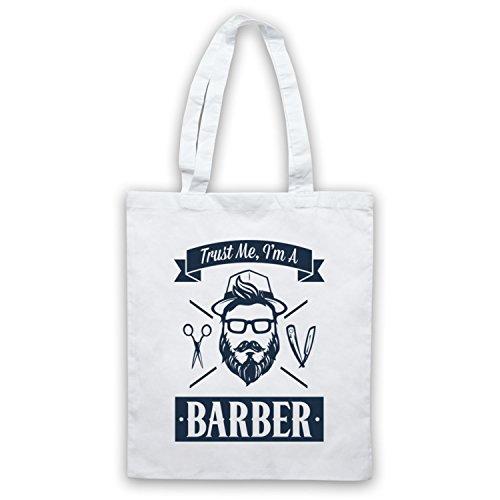 Fidati Di Me In Un Barbiere Divertente Lavoro Slogan Mantelle Bianche