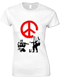 Women's Banksy Peace Soldiers T Shirt