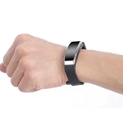 Wiiguda@8 GB Digitales Diktiergerät Aufnahmegerät & MP3-Player Armband USB Digitalrekorder Speicher für Gespräche, Vortrag, Konversation, Interview