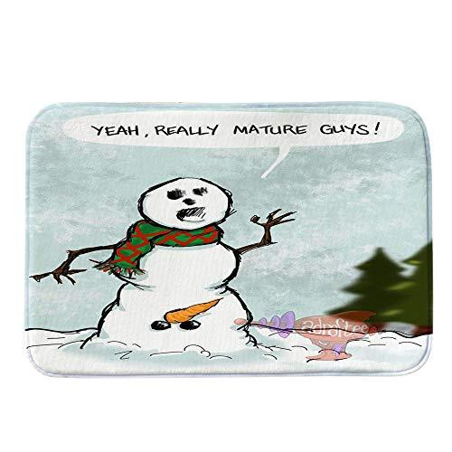 YCGG Schmutzfangmatte Fußmatte für Haustür Innen und Außen,Frohe Weihnachten Fußmatten, Willkommen Fußmatten Indoor Home Carpets Decor 40x60CM(40cm x 60cm,C)
