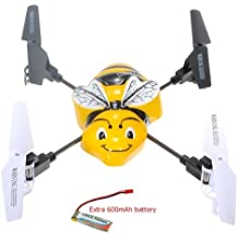 Water & Wood Syma X1 BumbleBee 4 Channel 2.4G RC Quadcopter with Extra 600mAh Battery