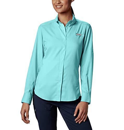 Tamiami Angeln Shirt (Columbia PFG TamiamiTM II Langarmshirt für Damen, Damen, Women's PFG TamiamiTM II Long Sleeve Shirt, Hellblau, Medium)