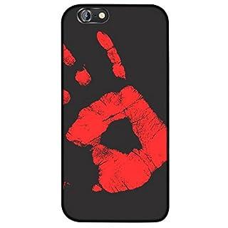adraw Thermo Case, Kompatibel mit iPhone 6 / 6S, Hülle, Thermo Hülle, Wärmeempfindliches Back Case Cover, Fluoreszierende Smartphone Hülle, Schutzhülle, Handyhülle mit Farbwechsel, (Schwarz zu Rot)