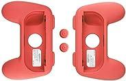 AmazonBasics - Schutzhüllen-Kit für Joy-Con-Controller für die Nintendo Switch, Rot