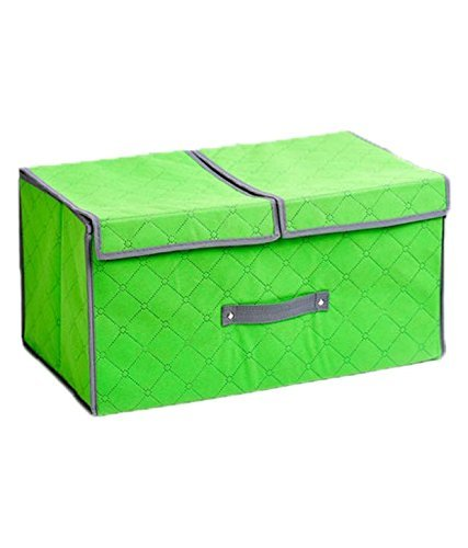 Styleys Charcoal Organizers Charcoal Divider Box Cell Foldable Storage Box type Non-Smell Drawer Organizer Closet Storage for Socks Bra Tie Scarfs Antibacterial Bamboo Charcoal Foldable Storage Box (Green)