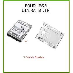 Disque dur 250Go pour PS3 Ultra Slim + Support de fixation disque dur pour PS3 Ultra Slim + Notice en français +Vis de fixation