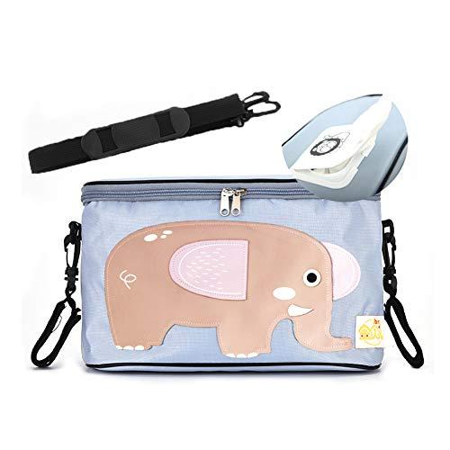 Buggy-Kinderwagen-Tasche mit 2 Kinderwagen-Hakenhaltern und Tissue Pocket-Kinderwagen-Organizer für Mama