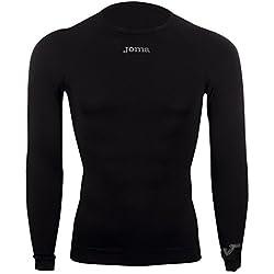 Joma Brama Classic - Camiseta térmica de manga larga para hombre, color negro, talla L-XL