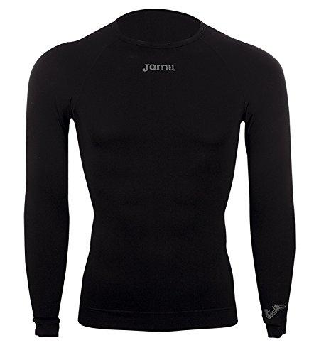 Joma brama classic - maglia termica a manica lunga per bambini di 12-14 anni, colore nero
