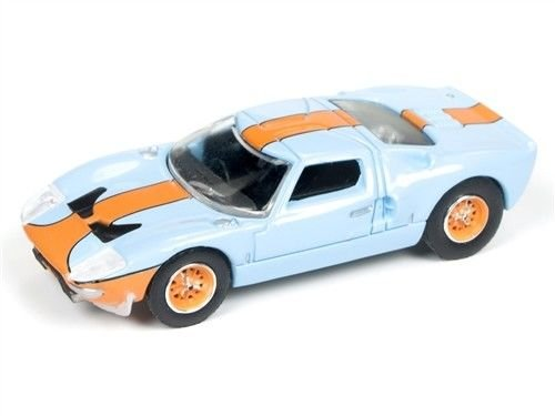 1965 Ford GT 40 Blau Vintage Racing - Auto World Hobby 1:64