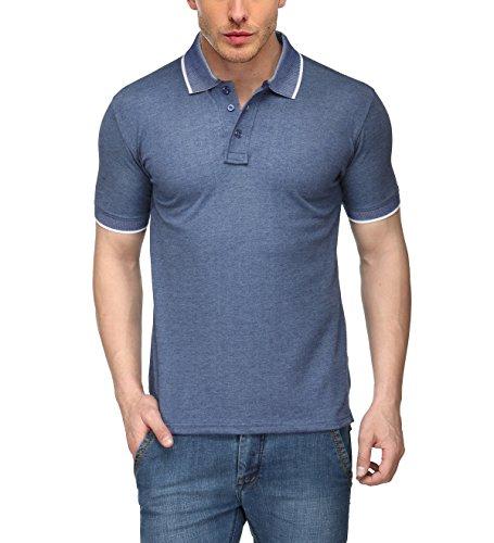 Scott International Men's Cotton Polo (1.1_Spk1_L_Navy Blue_Large)
