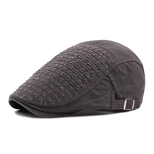 Fashian Unisex Cotton Einstellbare Flache Kappe Übergroße Zeitungsjunge Einfarbig Ivy Plain Gatsby Duckbill Irish Cap Hut (Color : 1, Size : Free Size) (Gatsby Strohhut)