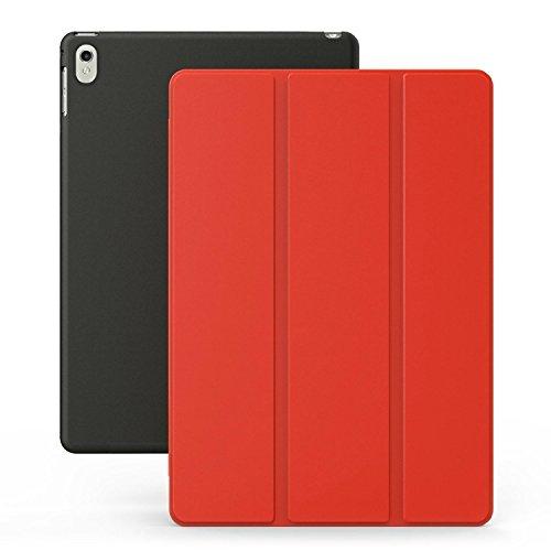 KHOMO iPad Pro 9.7 Zoll Hülle Case Rot und Schwarzes Gehäuse mit doppelten Schutz ultra dünn und leicht, Smart Cover Schutzhülle fur das Neue Apple iPad Pro 9.7 - Red and Black (Ipad-gehäuse)