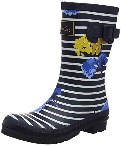 Joules Damen Molly Welly Gummistiefel, Blau (Navy Lily Stripe NAVLIYLSTP), 37 EU Joules Welly