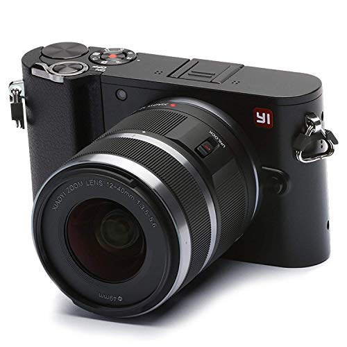 """Foto YI M1 Fotocamera Digitale Mirrorless 4K, MFT Micro Quattro Terzi, Schermo Touchscreen 3"""", 12-40mm F3.5 - 5.6, Foto 20 MP, Video 4K / 30fps, Obiettivo Intercambiabile, Bluetooth, Wifi - Nero Tempesta"""