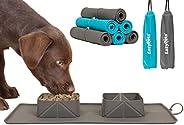EasyPets Double Roll 'N' Go - Juego de cuencos para perros y gatos Cuencos plegables enrollables para