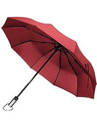 DORRISO Mujer Hombres Paraguas Compacto y Resistente al Viento Paraguas Plegable Automático Apertura/Cierre Paraguas