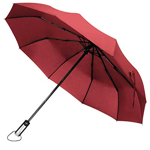 DORRISO Mujer Hombres Paraguas Compacto Resistente