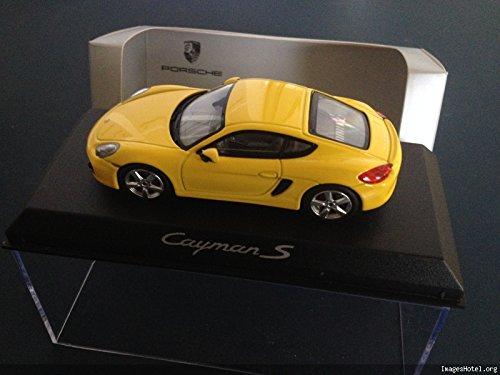 Générique Porsche Cayman S Jaune Dealer Pack - NOREV 1/43