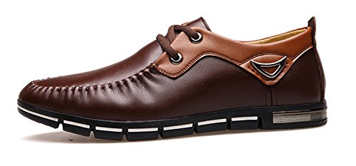 Men's Imitation Leather Moccasins Flat Oxford Shoes brown