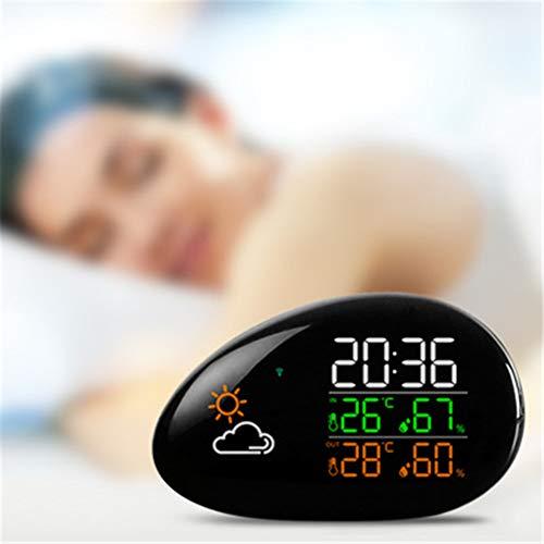 CRZJ Innenthermometer und Hygrometer Creative Wetter Uhr