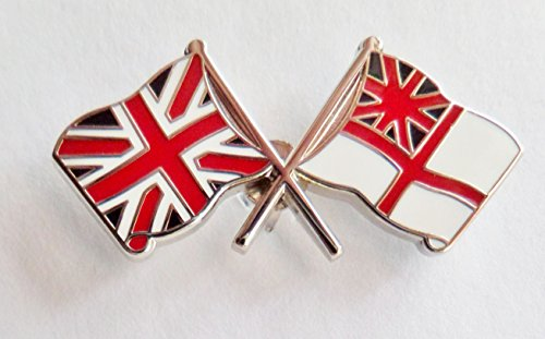 Royal Navy RN weiß Ensign & Union Jack Pin Badge-Mod zugelassen