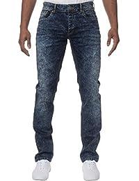 ENZO hommes Skinny fin extensible compatible avec noir délavé et bleu délavé jeans jeans