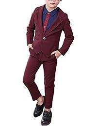 Zhuhaitf Mode 2 Piece Kids Children School Suit for Boys Boys Formal Wedding Blazer Suit Boys Suit Party Tuxedos 4125