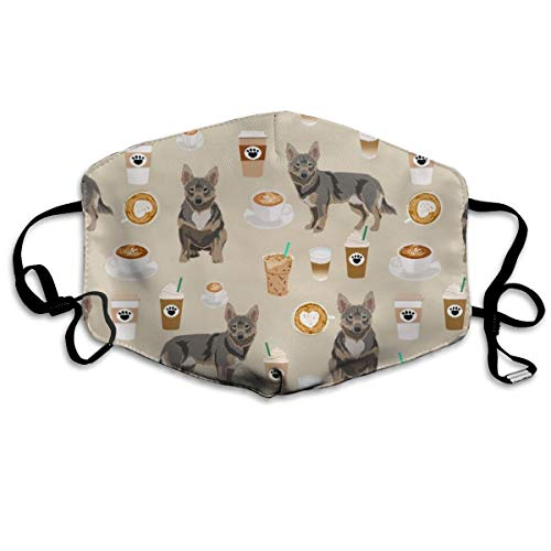 Swedish Vallhund Dog Dog, Dog Breeds, Swedish Vallhund, Coffee, Coffees, Cute Dog -tan Anti Dust Mask Anti Pollution Washable Reusable Mouth Masks -