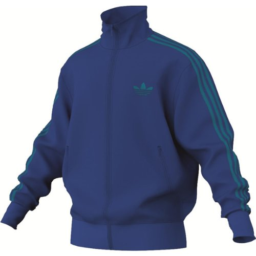 adidas Herren Sweatjacke Firebird Tracktop, true blue/turquoise, S, Z34181 (Streifen-true Blues Shirt)